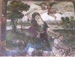 Fresco at Shiraz of Abraham sacrificing Isaac