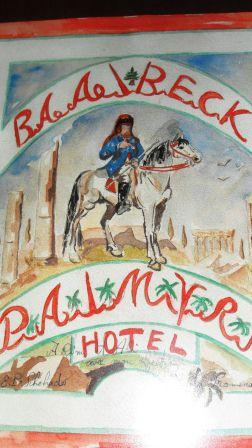 Poster for the Palmyra Hotel at Baalbek