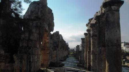 Roman road by the Hippodrome at Tyre