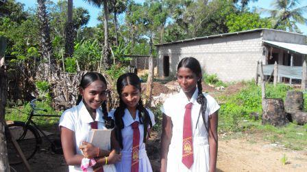 Schoolgirls at Vannivillankulam Mullaitivu district