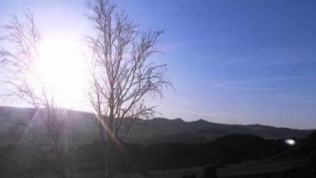 Sun rising at the Mirage Resort Mongolia
