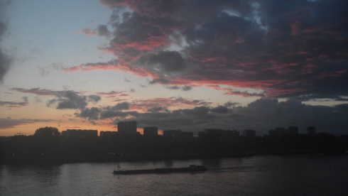 Sunset at Antwerp - June 2012
