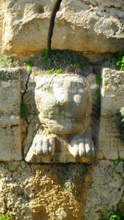 The lion's head in the walls at Byblos