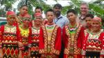 Tribal children after the welcome dance in Bukidnon