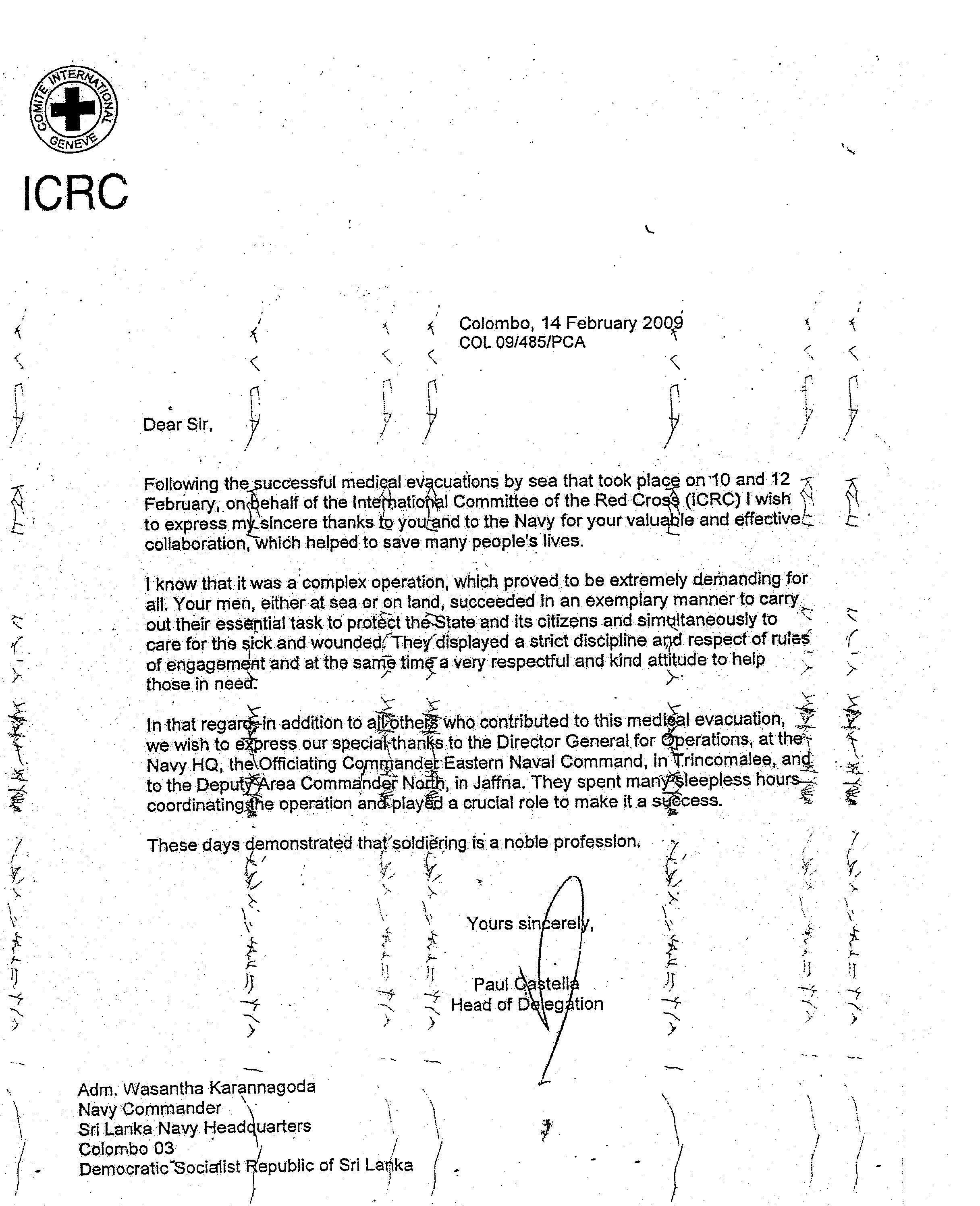 The role of the armed forces in reconciliation rajiva wijesinha very respectful and kind attitude to help those in need to cite a letter sent by the head of the icrc altavistaventures Choice Image