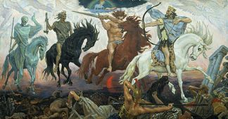 The Christian apocalyptic vision is that the four horsemen are to set a divine apocalypse upon the world as harbingers of the Last Judgment.